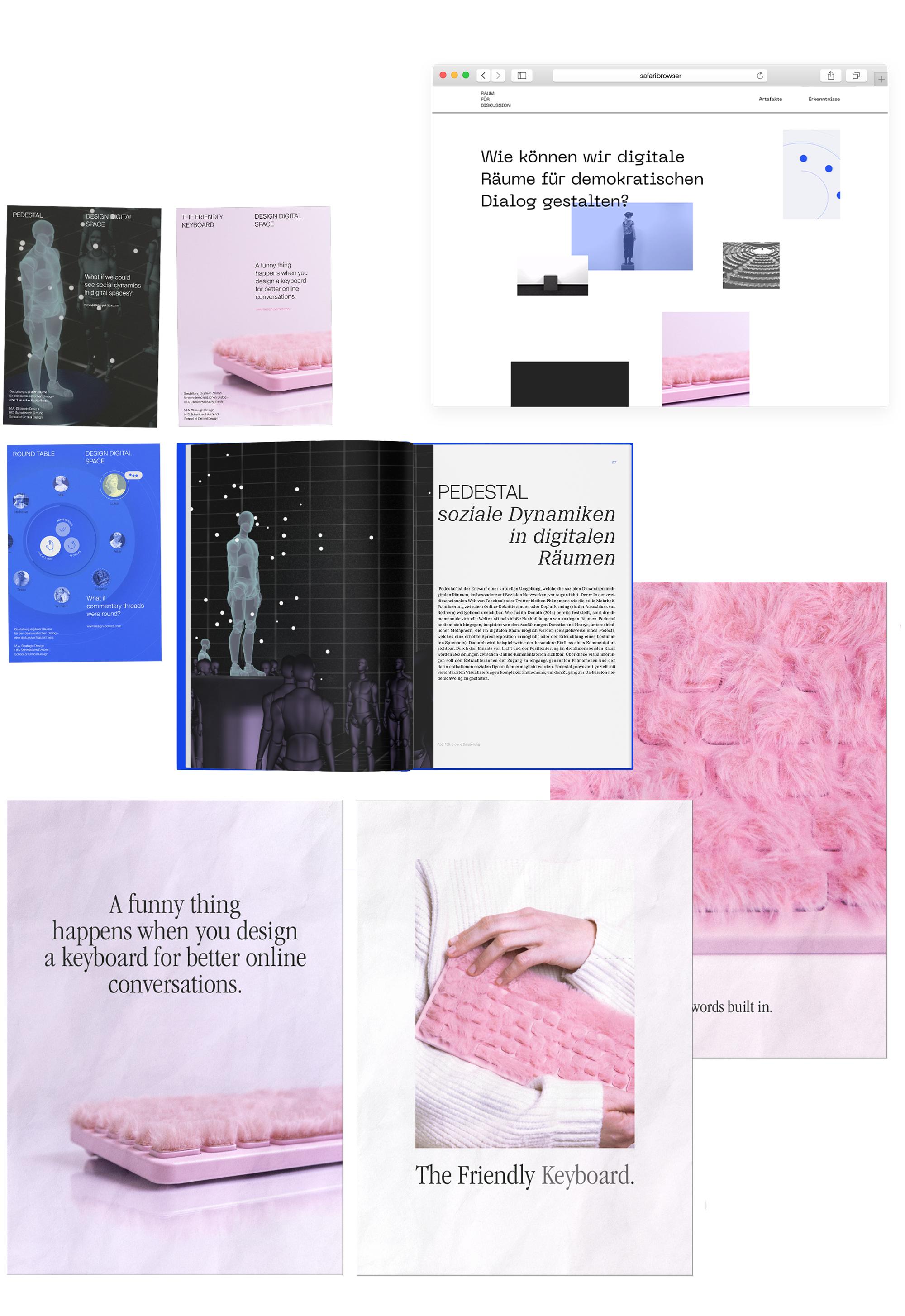 Collage Masterthesis digitale Räume