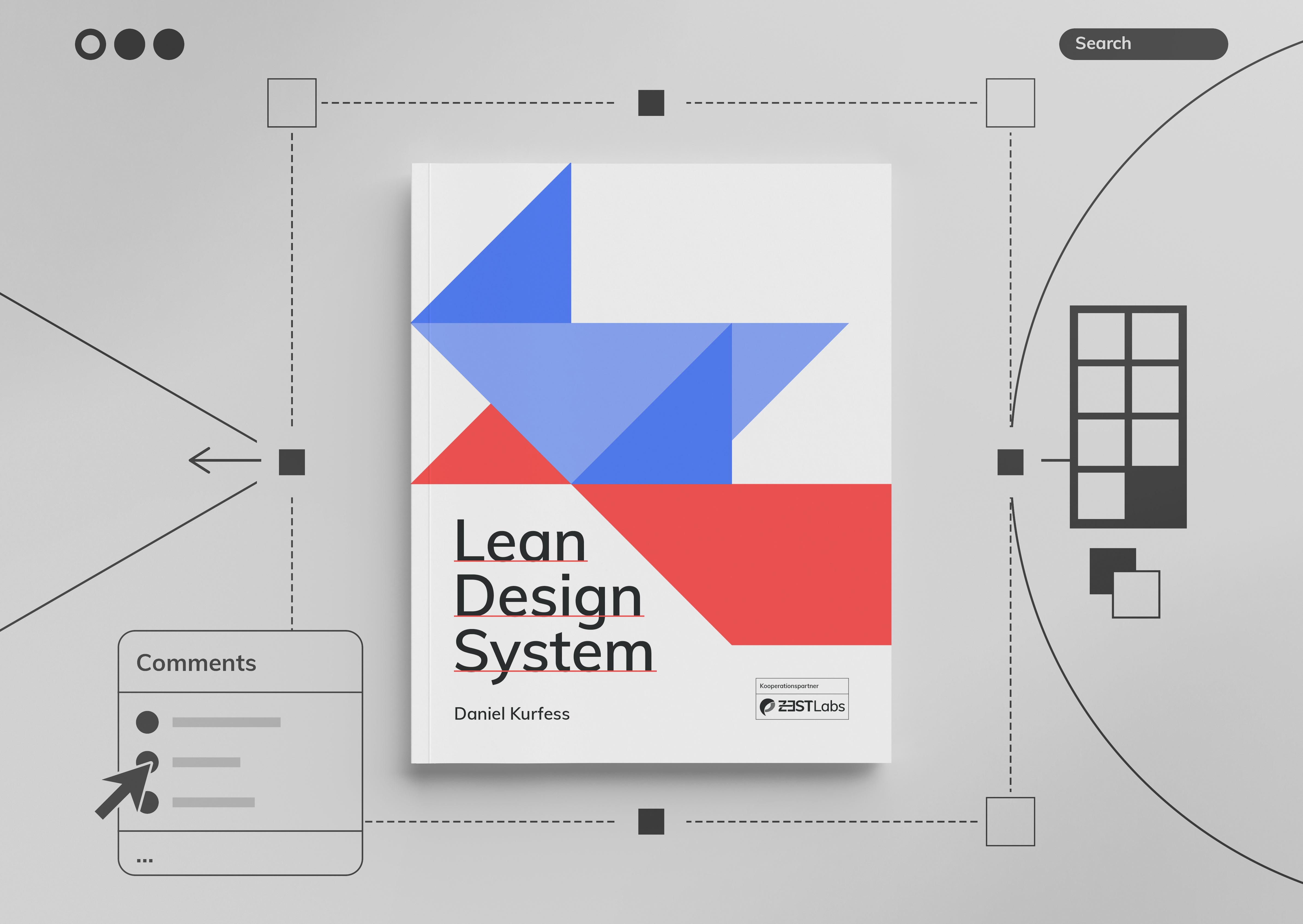 Lean Design System thesis mockup