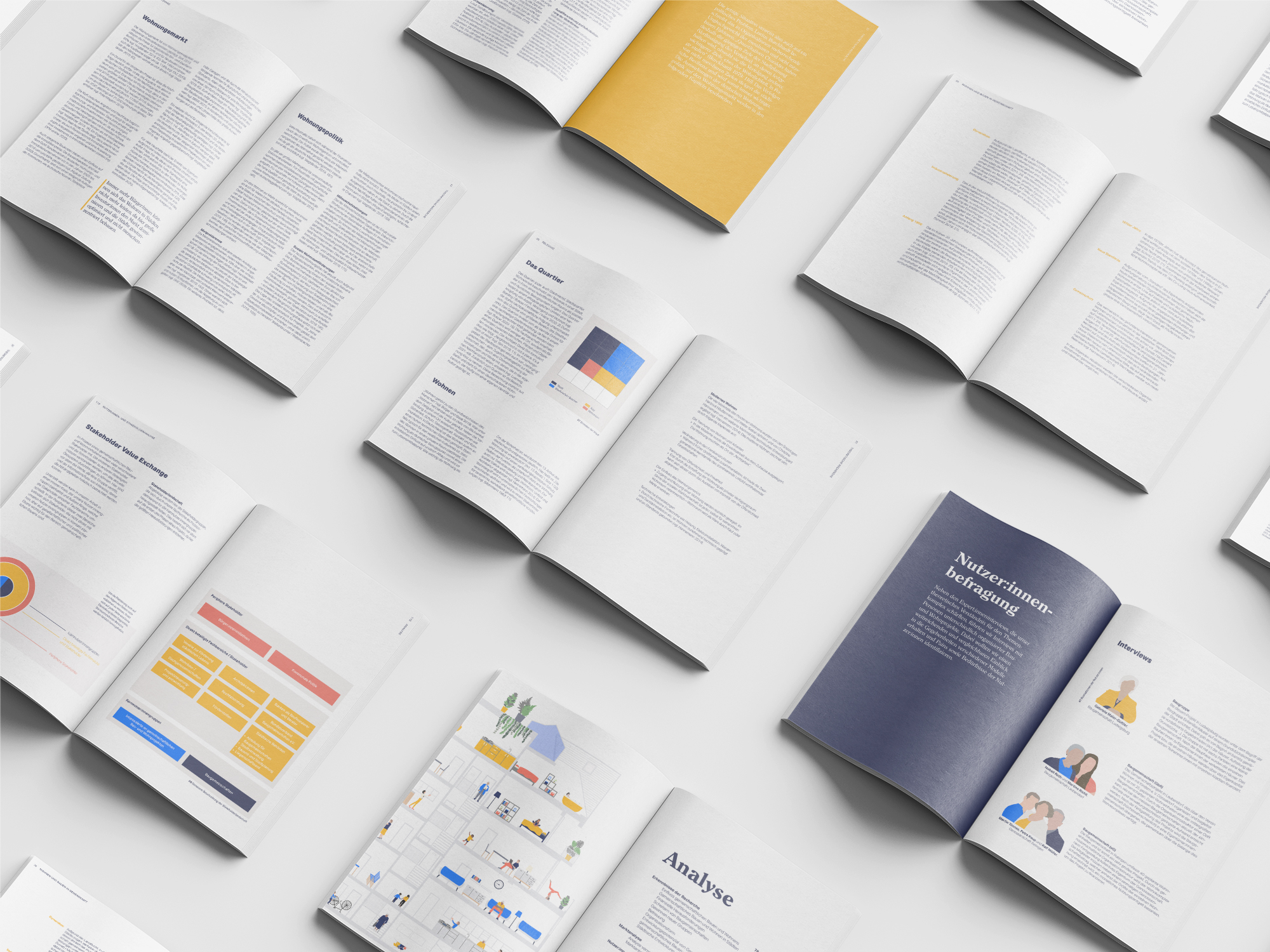 The image shows a flatlay of the printed documentation.